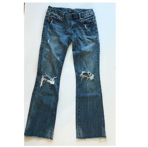 Seven 7 women's bootcut distressed jeans size 27